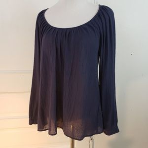 Joie Heron Scoop neck cotton blouse XS